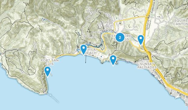 Avila Beach, Kalifornien Hiking Map