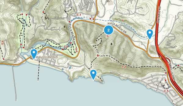 Avila Beach, California Nature Trips Map