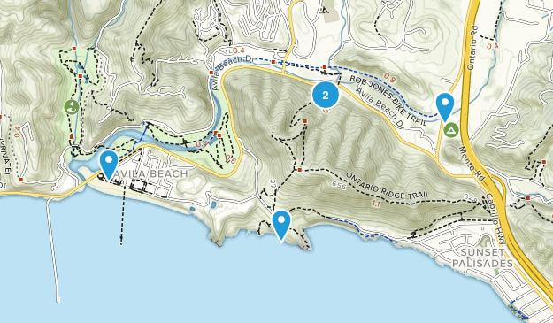 Avila Beach, California Walking Map