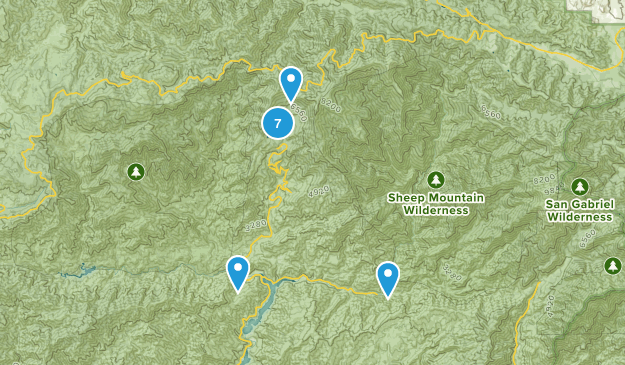 Azusa, California Camping Map