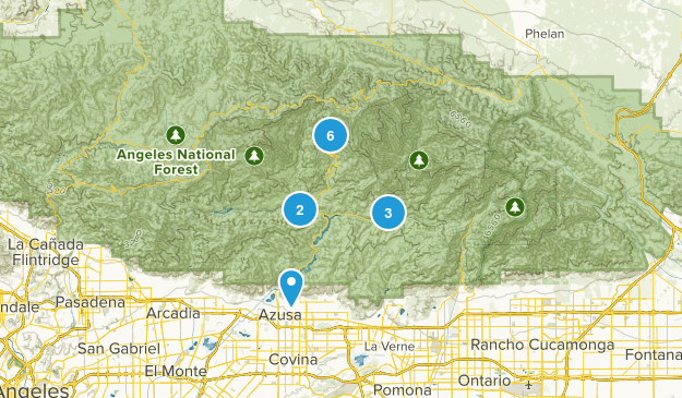 Azusa, California Forest Map