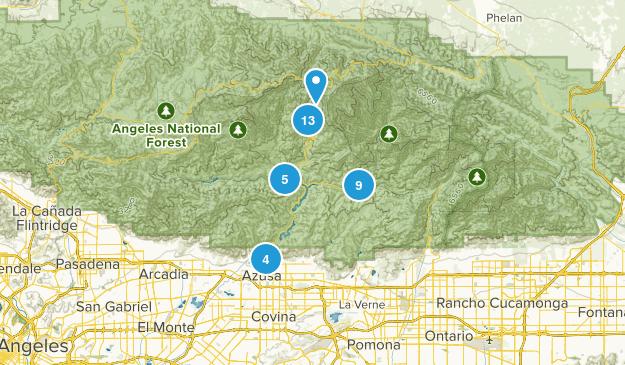 Azusa, California Hiking Map