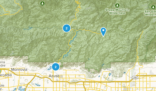 Azusa, California Mountain Biking Map