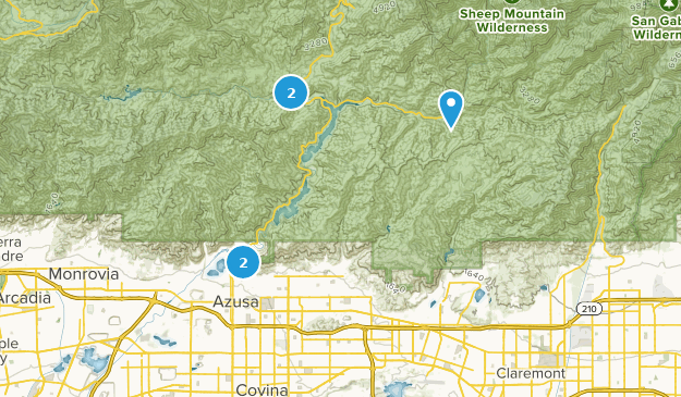 Azusa Canyon Fire Map.Best Mountain Biking Trails Near Azusa California Alltrails