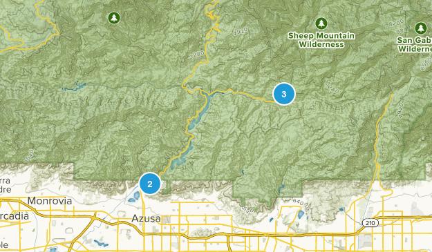 Azusa, California River Map