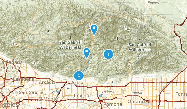 Azusa, California Trail Running Map