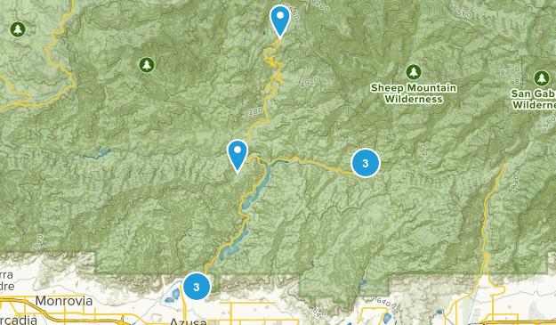 Azusa, California Trail Running Map