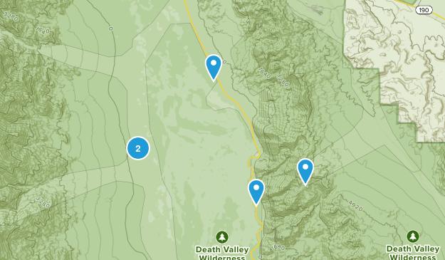 Badwater, California Hiking Map