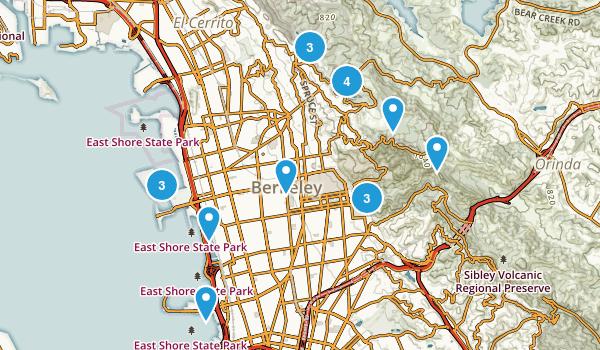 Berkeley, California Birding Map
