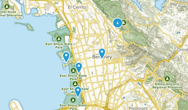 Berkeley, California Mountain Biking Map