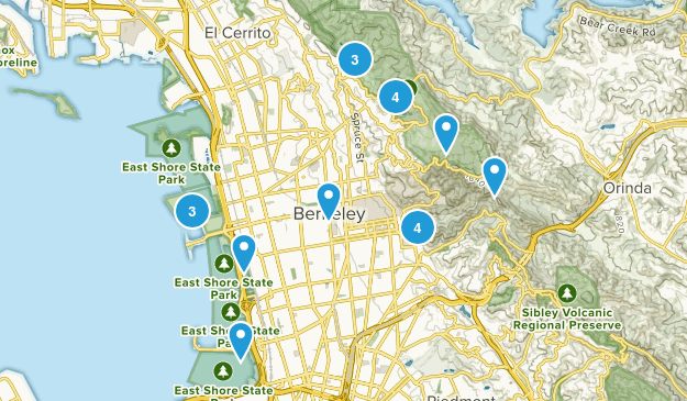 Berkeley, California Trail Running Map