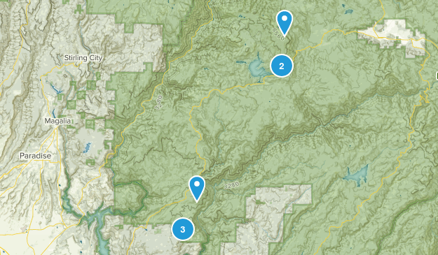 Berry Creek, Kalifornien Hiking Map