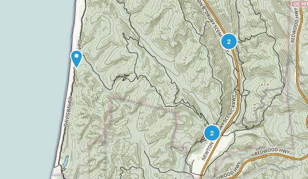 Berry Glenn, California Nature Trips Map