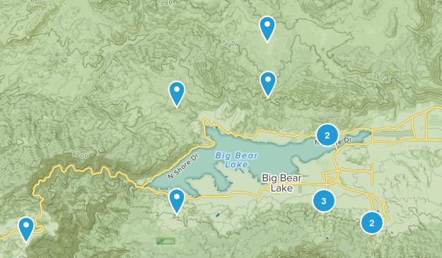 Big Bear City, California Mountain Biking Map