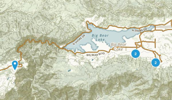 Big Bear City, California Skiing Map