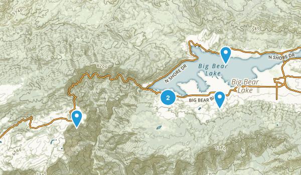 Big Bear Lake, California Birding Map