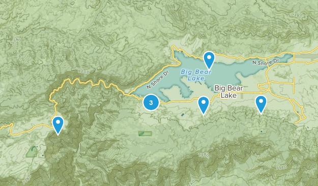 Big Bear Lake, California Hiking Map
