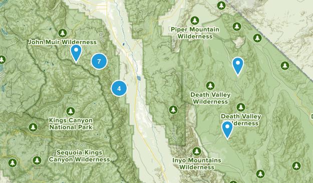 Big Pine, California Hiking Map