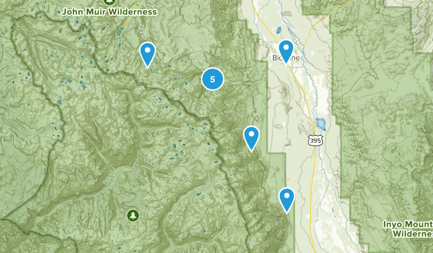 Big Pine, California Nature Trips Map
