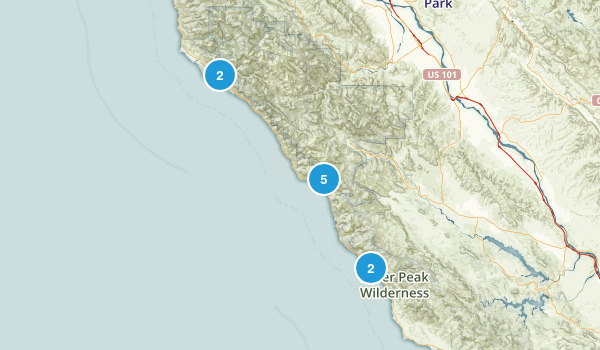 Big Sur, California Backpacking Map