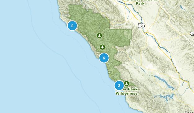Big Sur, California Backpacking Map