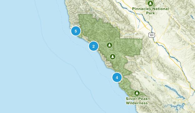 Big Sur, California Beach Map