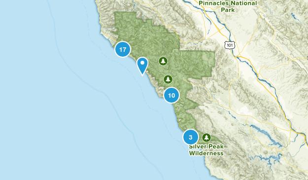 Big Sur, California Birding Map