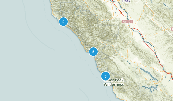 Big Sur, California Camping Map