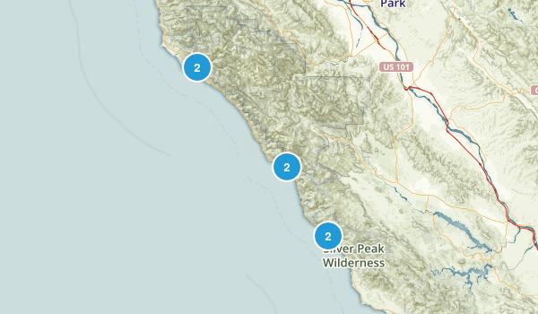 Big Sur, California Dog Friendly Map