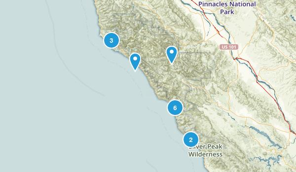 Big Sur, California Dogs On Leash Map
