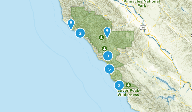 Map Of Trails Near Big Sur California Alltrails