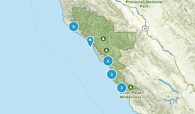 Big Sur, California Kid Friendly Map