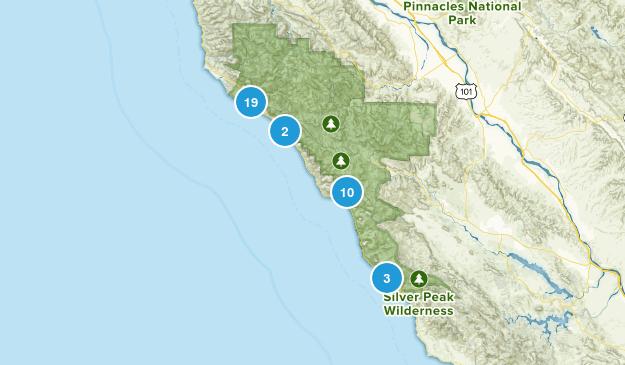 Big Sur, California Nature Trips Map