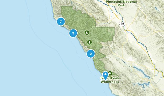 Big Sur, California River Map