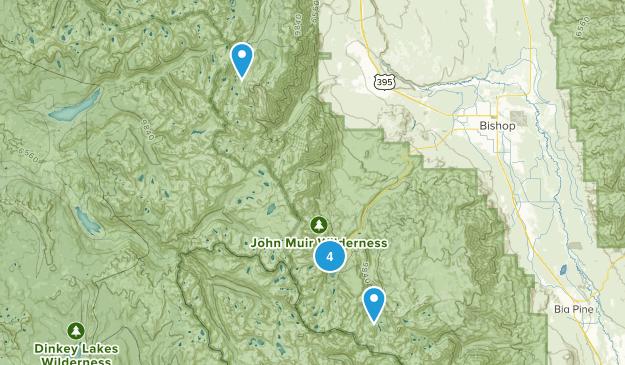 Bishop, California Fishing Map
