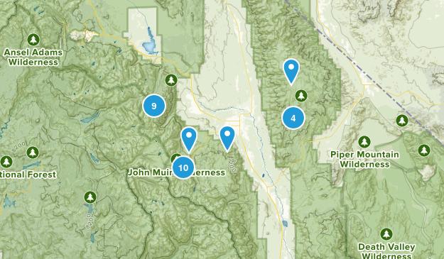 Bishop, California Nature Trips Map