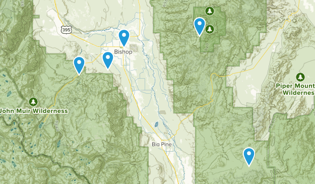 Bishop, California Off Road Driving Map