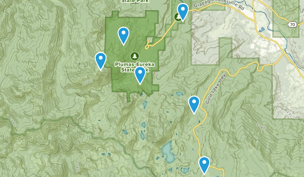 Blairsden-Graeagle, California Hiking Map