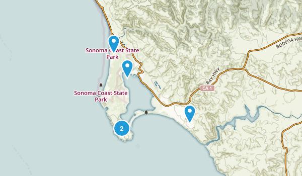 Bodega Bay, California Hiking Map