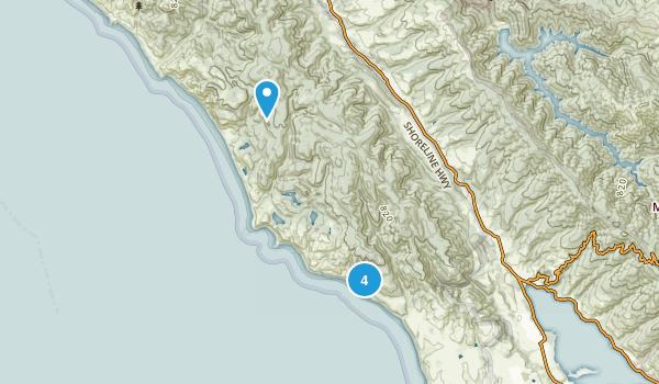 Bolinas, California Beach Map