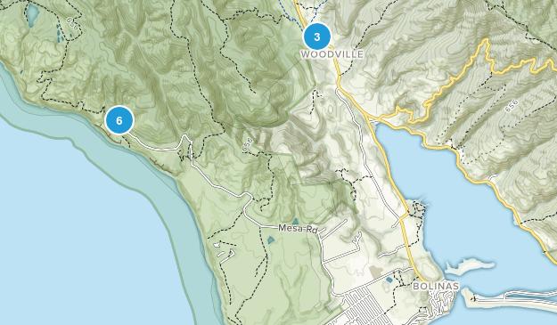Bolinas, California Hiking Map