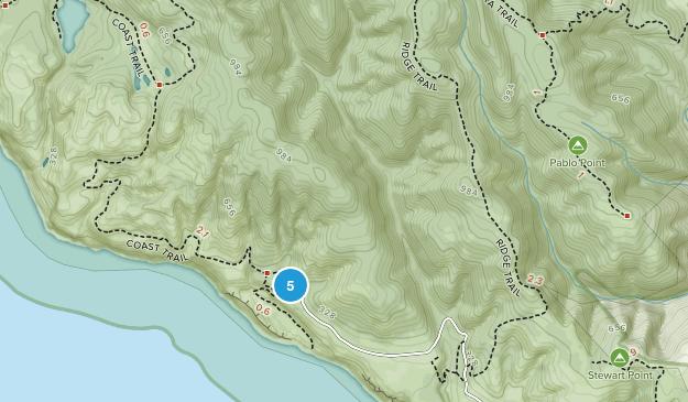 Bolinas, California Wild Flowers Map