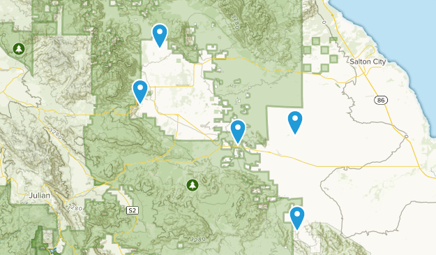 Borrego Springs, California Camping Map