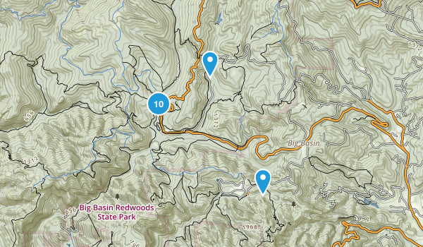 Boulder Creek, California Birding Map