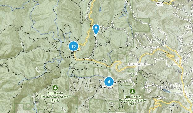 Boulder Creek, California Hiking Map