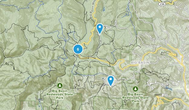 Boulder Creek, California Kid Friendly Map