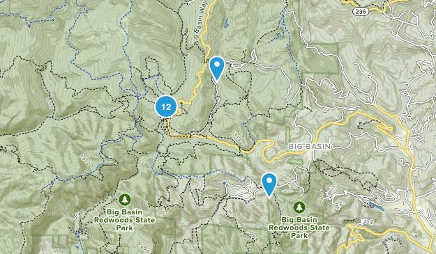 Boulder Creek, California Walking Map