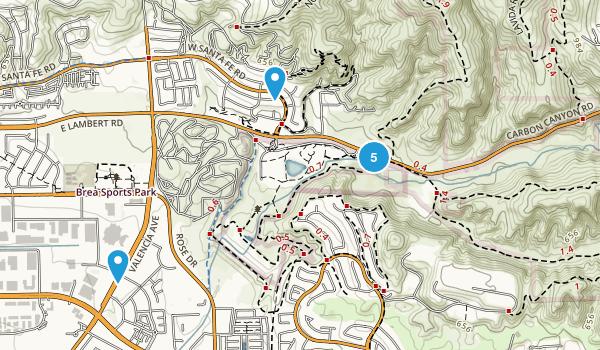 Brea, California Nature Trips Map