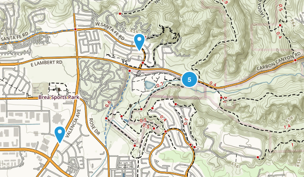 Brea, California Walking Map