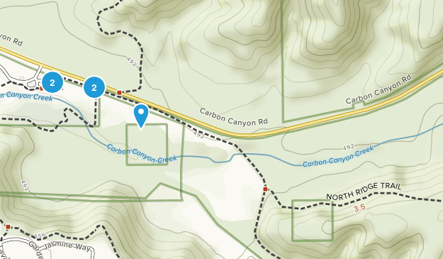 Brea, California Wild Flowers Map